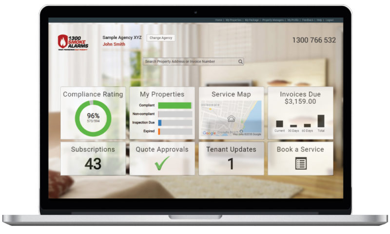 1300 Smoke Alarms Client Portal